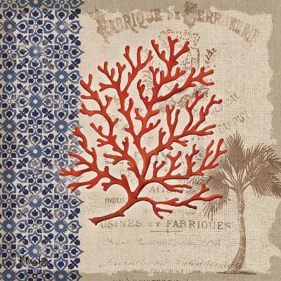 Burlap Coral I-Paul Brent-Art Print