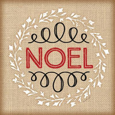 Burlap Noel-Jennifer Pugh-Art Print