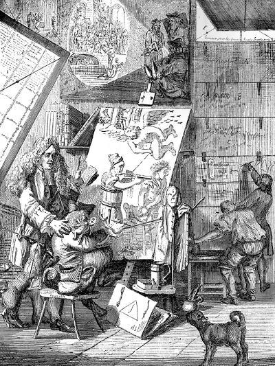 Burlesque Sur Le Burlesque, 1753-Paul Sandby-Giclee Print