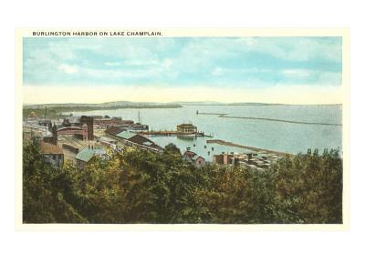 Burlington Harbor on Lake Champlain, Vermont--Art Print