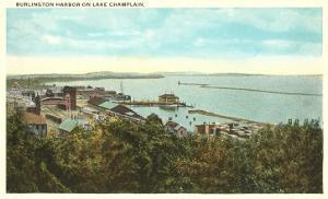 Burlington Harbor on Lake Champlain, Vermont