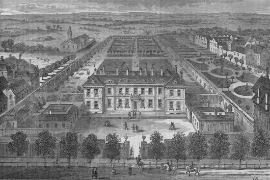 Burlington House, Westminster, London, in about 1700, c1875 (1878)-Unknown-Giclee Print