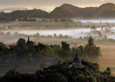 Burma's Oldest Town-Maurice Subervie-Art Print