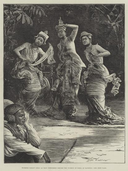Burmese Ballet Girls as They Performed before the Viceroy of India at Rangoon-Henry Stephen Ludlow-Giclee Print