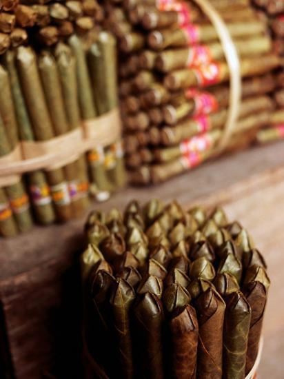 Burmese Cheroots at Market Stall, Myanmar-Anthony Plummer-Photographic Print