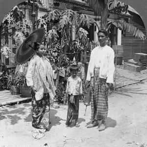 Burmese Family, Rangoon, Burma, 1908