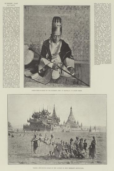 Burmese Past Royalty--Giclee Print