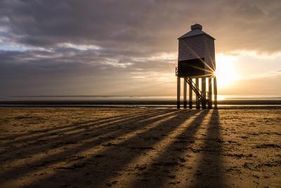 Burnham-On-Sea Lighthouse Shadows-Gary Clark - CreativeFocusPhotography-Photographic Print