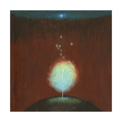 Burning Bush under Star--Art Print