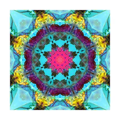 Burning Heart Mandala-Alaya Gadeh-Art Print