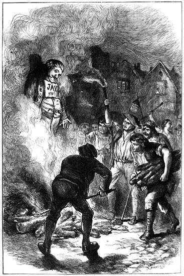 Burning John Jay's Effigy, C1794- Hooper-Giclee Print
