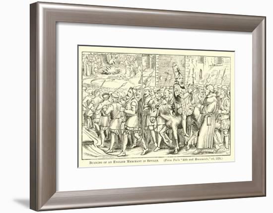 Burning of an English Merchant in Seville--Framed Giclee Print