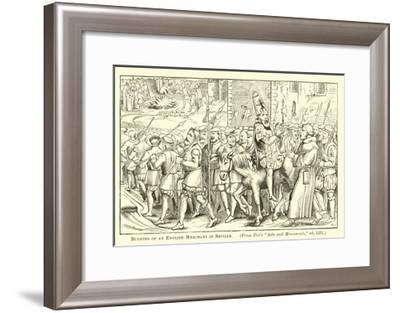 Burning of an English Merchant in Seville--Framed Giclee Print