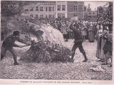 Burning of Blount's Pamphlets by the Common Hangman-Henry Marriott Paget-Giclee Print