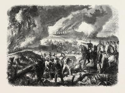 Burning of Cork-Tree Forests, in the District of Jemappes, Philipville, Algeria, 1865--Giclee Print