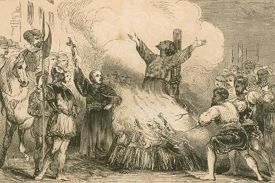 Burning of Patrick Hamilton at St. Andrews, 1528--Giclee Print
