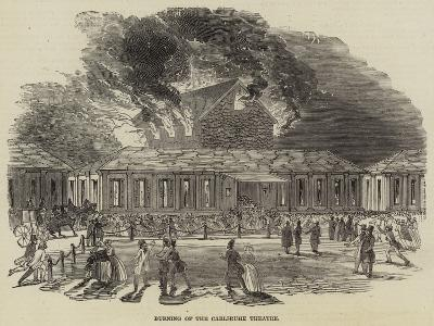 Burning of the Carlsruhe Theatre--Giclee Print