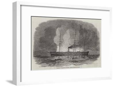 Burning of The City of Pittsburg, American Merchant Steamer
