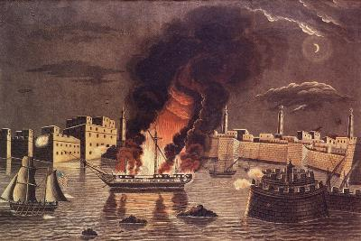 Burning of the Frigate 'Philadelphia', in the Harbour of Tripoli on 16th February 1804--Giclee Print