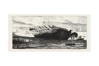 Burning of the Goliath, the Remains of the Vessel, 1876--Giclee Print