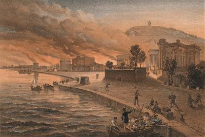 Burning of the Government Buildings at Kertch, 9th June 1855, 1856-Thomas Picken-Giclee Print