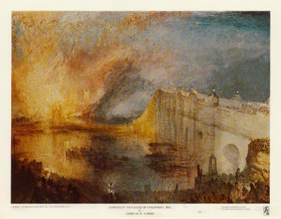 Burning of the Houses of Parliament-J^ M^ W^ Turner-Art Print