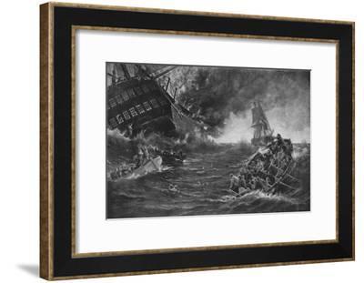 'Burning of the Kent', c1893, (1911)-Thomas M M Hemy-Framed Giclee Print