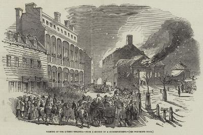 Burning of the Quebec Theatre--Giclee Print