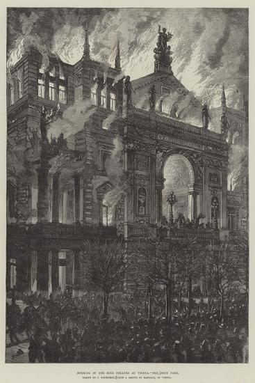 Burning of the Ring Theatre at Vienna-Johann Nepomuk Schonberg-Giclee Print