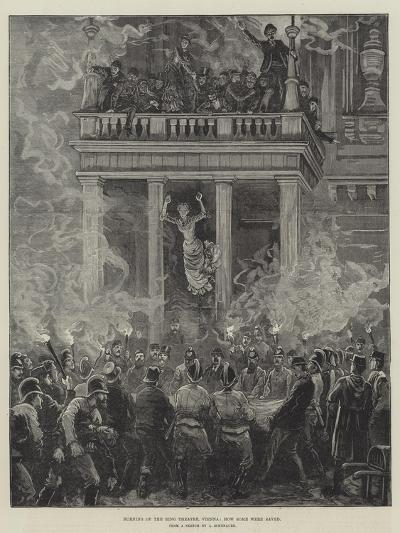 Burning of the Ring Theatre, Vienna, How Some Were Saved--Giclee Print