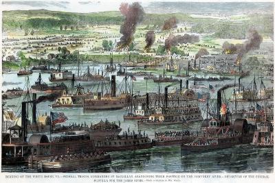 Burning of the White House, Virginia, American Civil War, 26 June 1862--Giclee Print