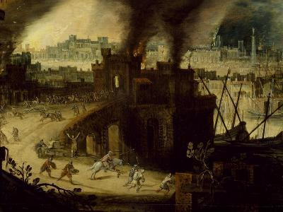 Burning of Troy, 1603-Pieter Schoubroeck-Giclee Print