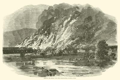 Burning the Bridge over the Susquehanna, Columbia, Penn, June 1863--Giclee Print