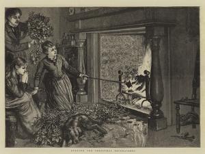 Burning the Christmas Decorations