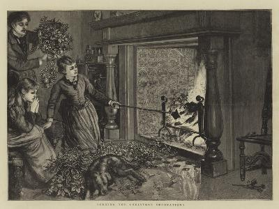 Burning the Christmas Decorations--Giclee Print