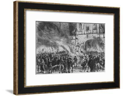 'Burning the Pope in Effigy at Temple Bar', c19th century-G Durand-Framed Giclee Print