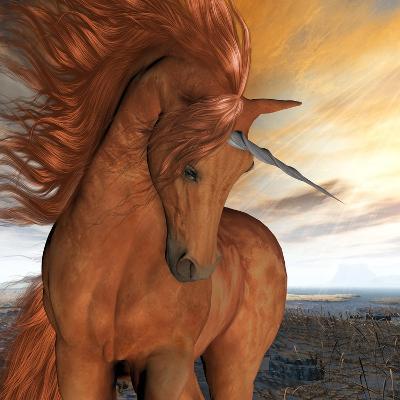 Burnt Sky Unicorn-Corey Ford-Art Print