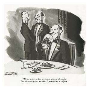 Gourmet - April, 1944 by Burr Shafer