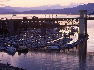 Burrard Bridge, Dusk, Vancouver, BC, Canada-Mark Gibson-Photographic Print