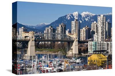 Burrard Bridge VancouverWinter--Stretched Canvas Print