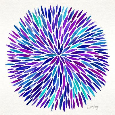 Burst in Purple Palette-Cat Coquillette-Giclee Print
