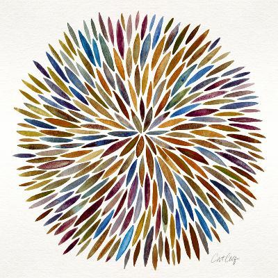 Burst in Retro Palette-Cat Coquillette-Giclee Print