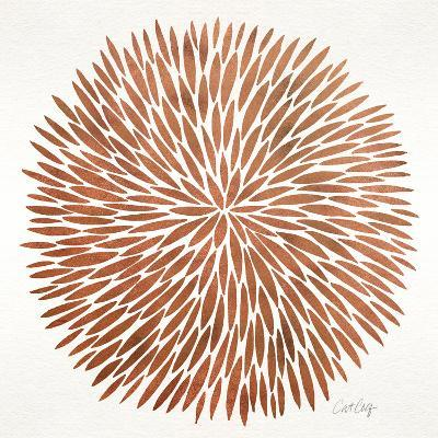 Burst in Rose Gold Palette-Cat Coquillette-Giclee Print