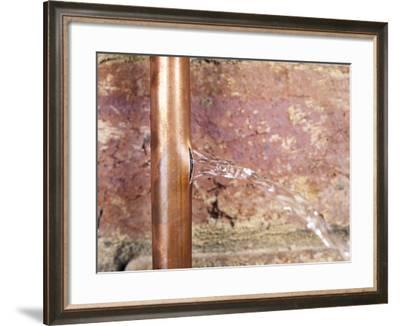 Burst Water Pipe-Andrew Lambert-Framed Photographic Print