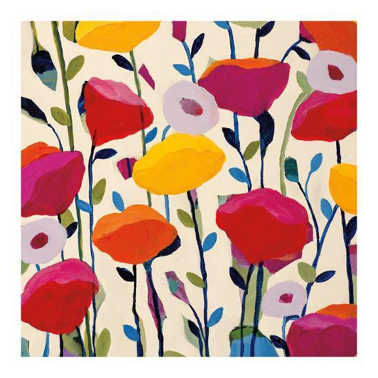 Bursting Poppies-Carrie Schmitt-Art Print