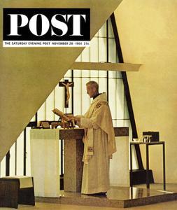 """Benedictine Monk,"" Saturday Evening Post Cover, November 28, 1964 by Burt Glinn"