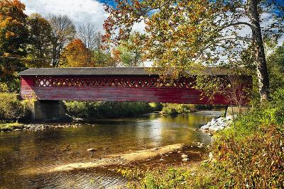 Burt Henry Covered Bridge, Vermont-George Oze-Photographic Print