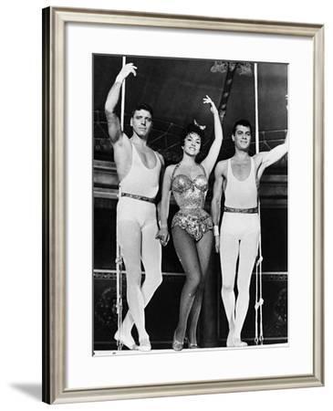 Burt Lancaster, Gina Lollobrigida, Tony Curtis, Trapeze, 1956--Framed Photographic Print