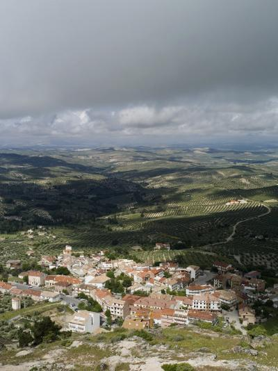 Burunchel Town and Landscape of Jaen Province Viewed from Cazorla Natural Park, Andalucia, Spain-Rob Cousins-Photographic Print