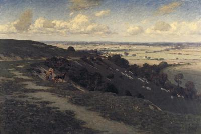 Bury Hill and Village with a View of the North Downs, C1879-1919-Jose Weiss-Giclee Print